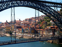 Oporto bridge D.Luis Stock Photography