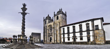Oporto cathedral Royalty Free Stock Photos