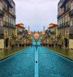 Oporto Street in Portugal stock photography