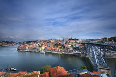 Oporto city panoramic view Royalty Free Stock Photos
