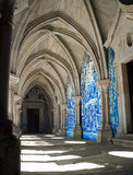 Oporto Cloister. View of one gallery in the Se Cathedral Cloister in Oporto, Portugal Royalty Free Stock Image