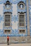 Oporto copre di tegoli il Portogallo Immagini Stock