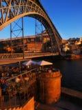 Oporto D tradicional Opinión del puente de Luiz Foto de archivo