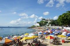 Oporto DA Barra Beach Salvador Bahia Brazil Imagen de archivo libre de regalías