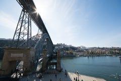 Oporto Dom Luis Bridge Imagen de archivo libre de regalías
