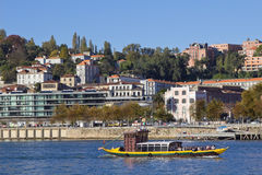 Oporto Douro River Royalty Free Stock Image
