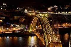 Oporto en la noche Fotos de archivo