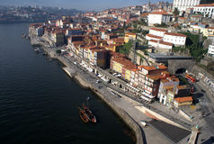 Oporto-Flussufer auf Portugal Stockbild