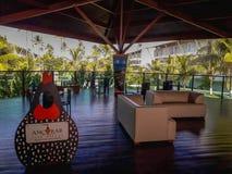 Oporto Galinhas, Recife, Brasile, 7 febbraio, 2019 Località di soggiorno di Ancorar immagine stock