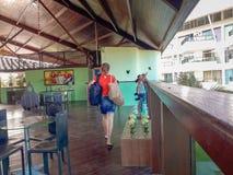 Oporto Galinhas, Recife, Brasile, 7 febbraio, 2019 Località di soggiorno di Ancorar immagini stock