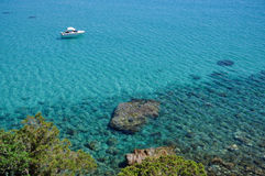 Oporto Giunco, Villasimius, Sardegna, Italia Fotografie Stock Libere da Diritti