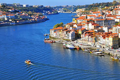 Oporto historical centre, top view Stock Photography