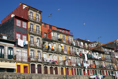 Oporto houses. Oporto Ribeira, typical buildings, Portugal Royalty Free Stock Photography