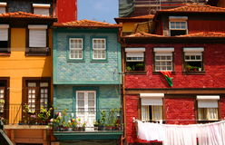 Oporto houses. Detail of traditional houses in the city of Oporto, Portugal Stock Photo