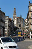 Oporto iconic church and tower of Clerigos Stock Image