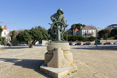 Oporto Man Rudder statue Royalty Free Stock Images