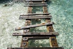 Oporto Mari Beach - vecchio pilastro Fotografie Stock Libere da Diritti