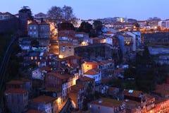 Oporto nella notte Fotografia Stock Libera da Diritti