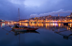 Oporto at night. View of Oporto at night Stock Images