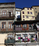 Oporto old houses Royalty Free Stock Photos
