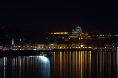 Oporto på natten Royaltyfria Foton