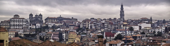 Oporto panorama. Oporto, December 2012. Panoranic view of downtown, UNESCO World Heritage Site Stock Images