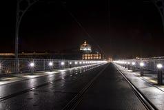 Oporto por noche Foto de archivo libre de regalías
