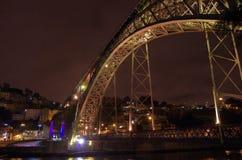 Oporto por noche Foto de archivo