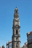 Oporto, Portogallo: DOS Clerigos (il clero Tower), 1754, punto di riferimento e simbolo di Torre della città storica Fotografia Stock Libera da Diritti