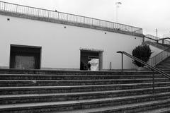 Oporto, Portogallo - la metropolitana Carolina Michaelis è in 500 metri dalla rotonda di Boavista e 700 metri dalla Camera di mus fotografia stock