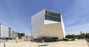 OPORTO, PORTOGALLO - 5 LUGLIO 2015: Vista della casa da Musica Immagini Stock Libere da Diritti