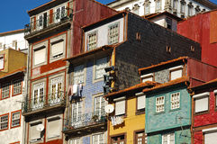 Oporto, Portugal. Colorful traditional houses in the city of Oporto, Portugal Royalty Free Stock Image