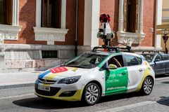 Car of Google Maps workinkg in Porto, Portugal stock photo