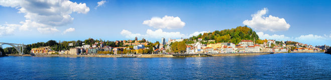 Oporto Portugal. Oporto embankment panoramic view in a beautiful sunny day. Portugal Royalty Free Stock Image