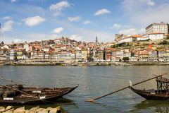 Oporto, Portugal: general view and Port wine boats Royalty Free Stock Image