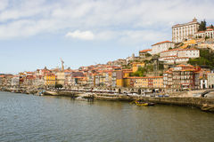 Oporto, Portugal: General view of Ribeira from D. Luís bridge Royalty Free Stock Photography