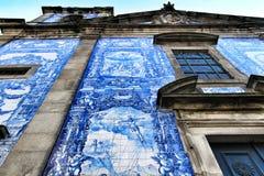 Beautiful facade of Capela das Almas church in Oporto