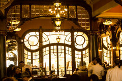 Oporto, Portugal: Majestic Caffe, considered the 6th most beautiful in the world Royalty Free Stock Image