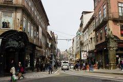 Oporto, Portugal: Rua (calle) de Santa Catarina Imagen de archivo