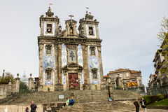 Oporto, Portugal: Santo Ildefonso church, from 1739 Royalty Free Stock Images