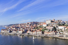 Oporto, Portugal. A view on the famous Ribeira docks close to Douro river, in Oporto Portugal Stock Images