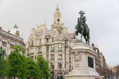 Oporto: Re DOM Pedro IV, Oporto, Portogallo Fotografie Stock Libere da Diritti