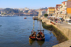Oporto Ribeira Stock Photography
