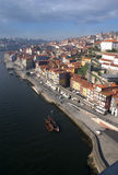 Oporto River Front on Portugal Stock Images