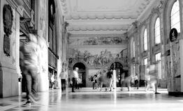 Oporto S.Bento train station interior black and wihte Royalty Free Stock Photo