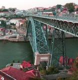 Oporto stadsDouro flod - Portugal arkivfoton