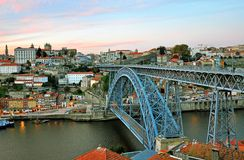 Oporto-Stadtbild Stockbild