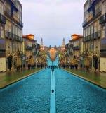 Oporto-Straße in Portugal stockfotografie