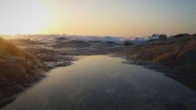 Oporto strand på solnedgången royaltyfria bilder