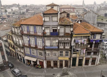 Oporto traditional houses. Oporto, December 2012. Resident houses on downtown, UNESCO World Heritage Site Stock Photography